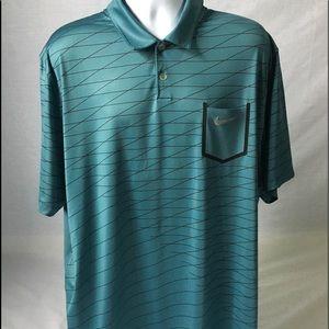Nike Geometric Stripe Golf / Polo Shirt